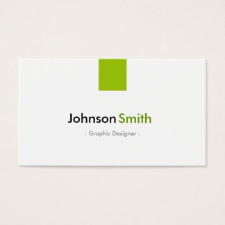 Graphic Designer - Simple Mint Green Business Card