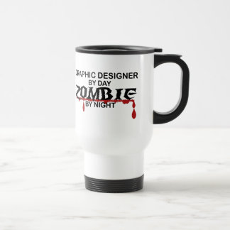 Graphic Designer Zombie Travel Mug