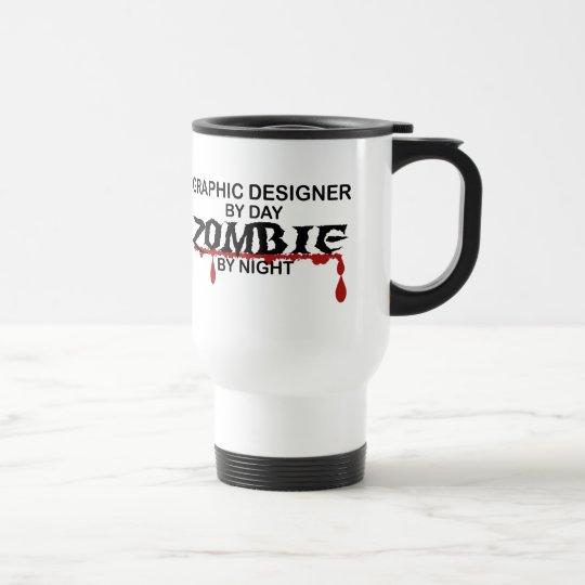 Graphic Designer Zombie Travel Mug