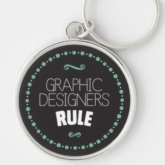 Graphic Designers Rule Keychain – Black
