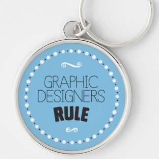 Graphic Designers Rule Keychain – Editable BG