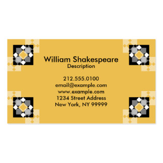 Graphic Diamond and Squares Business Card