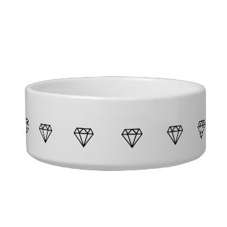 Graphic Diamond Pet Bowl