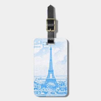 Graphic Eiffel Tower Luggage Tag
