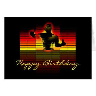 graphic equalizer birthday card - music birthday