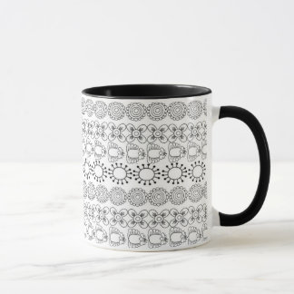 Graphic Floral Design Mug