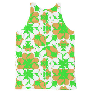 Graphic Floral Pattern All-Over-Print Tank Top