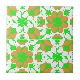 Graphic Floral Pattern Ceramic Tiles