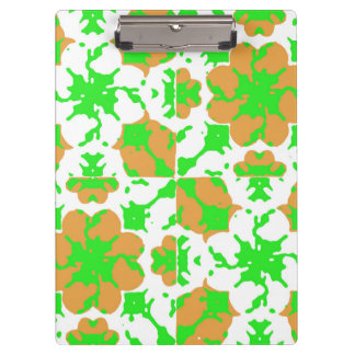 Graphic Floral Pattern Clipboard