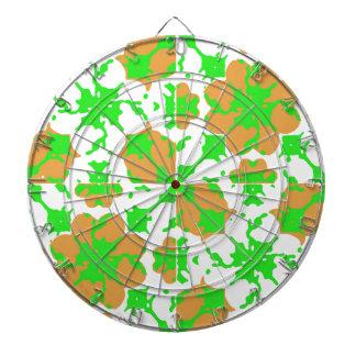 Graphic Floral Pattern Dartboard