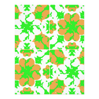 Graphic Floral Pattern Letterhead