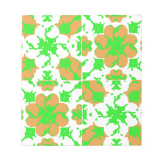 Graphic Floral Pattern Notepad