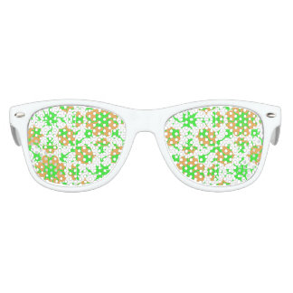 Graphic Floral Pattern Party Shades