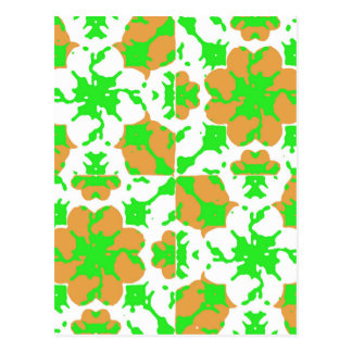 Graphic Floral Pattern Postcard