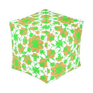 Graphic Floral Pattern Pouf