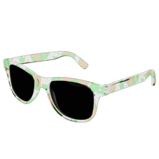 Graphic Floral Pattern Sunglasses