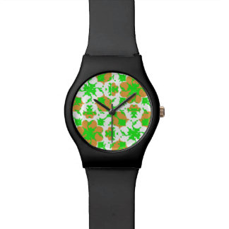 Graphic Floral Pattern Watch