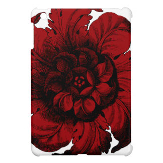 Graphic Flower in Black and Red Case For The iPad Mini