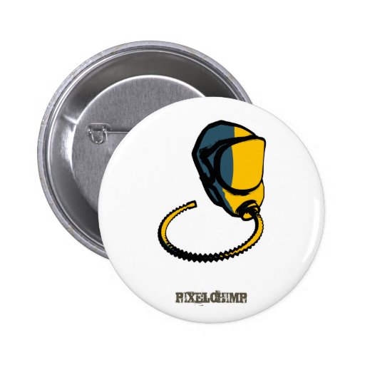 Graphic Gas Mask 01 Button