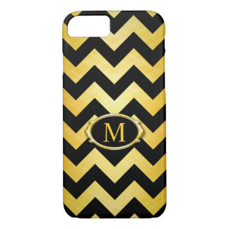 Graphic Gold Black Chevron Pattern Case-Mate iPhone Case