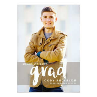 Graphic Grad Modern Brush Lettered | Graduation Card