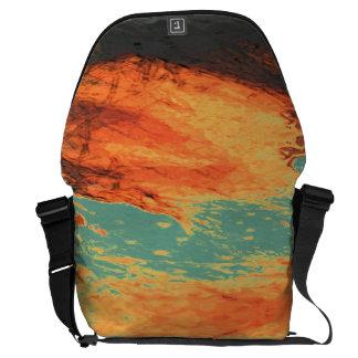 Graphic Holiday Messenger Bag