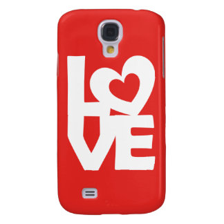 Graphic Illustration I love You with heart on red