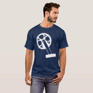 Graphic Illustration of a Bicycle Crank T-Shirt