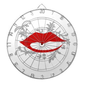 graphic lips dartboard
