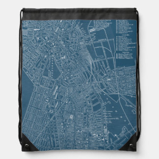 Graphic Map of Boston Backpack