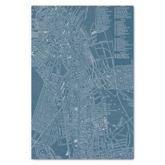 Graphic Map of Boston Tissue Paper