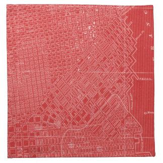 Graphic Map of San Francisco Napkin