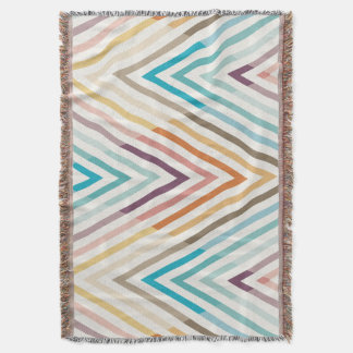 Graphic Modern Colorful Geometric Throw Blanket