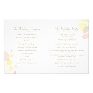 Graphic modern flower petals Wedding Programme Full Color Flyer