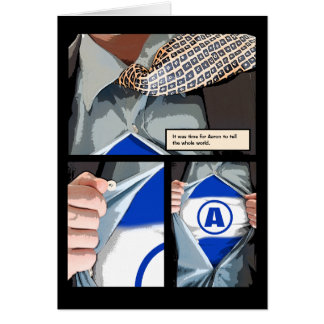 Graphic Novel Bar Mitzvah Thank You Note Card