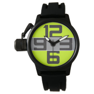 GRAPHIC NUMBERS | gray on any color Wrist Watches
