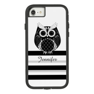 Graphic owl on striped background with name Case-Mate tough extreme iPhone 8/7 case