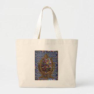 Graphic Painting  Crystal Stone TileS Egyptian NY Jumbo Tote Bag