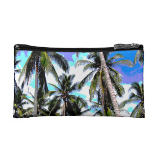 Graphic Palm Trees Design Cosmetic Bag