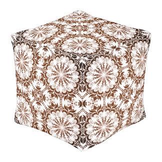 Graphic pattern pouf