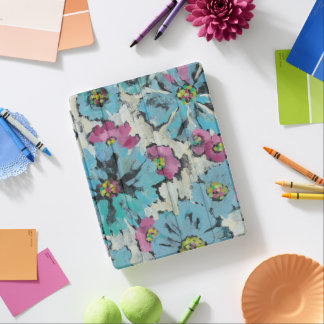 Graphic Pink and Blue Floral iPad Cover