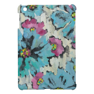 Graphic Pink and Blue Floral iPad Mini Cover