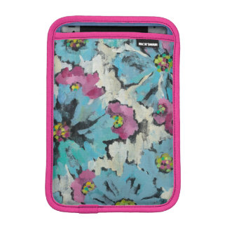 Graphic Pink and Blue Floral iPad Mini Sleeves