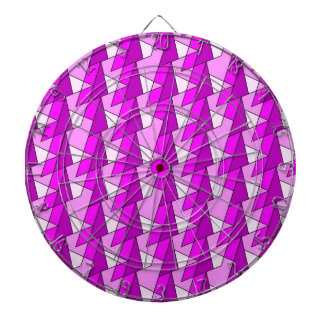 graphic pink purple pattern dartboard with darts