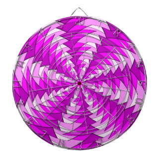 graphic pink swirl pattern dart board