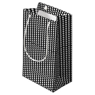 Graphic Polka Dots | Black White Small Gift Bag
