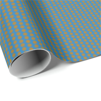 Graphic Polka Dots | Denim Wrapping Paper