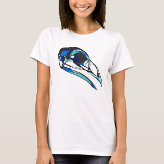 Graphic Raven Skull: cool colors T-Shirt