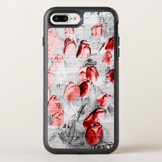 Graphic Red Tulips OtterBox Symmetry iPhone 8 Plus/7 Plus Case