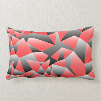 Graphic Shattered Geometry Texture Pillow